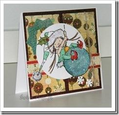 , Kartka świąteczna z elfem :)