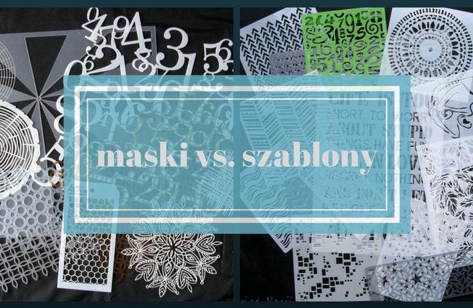 szablony, Maski vs. szablony