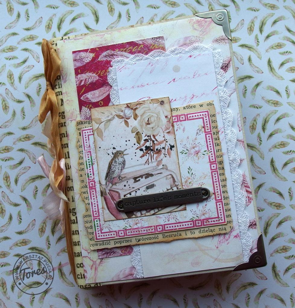 Romantyczny junk journal.