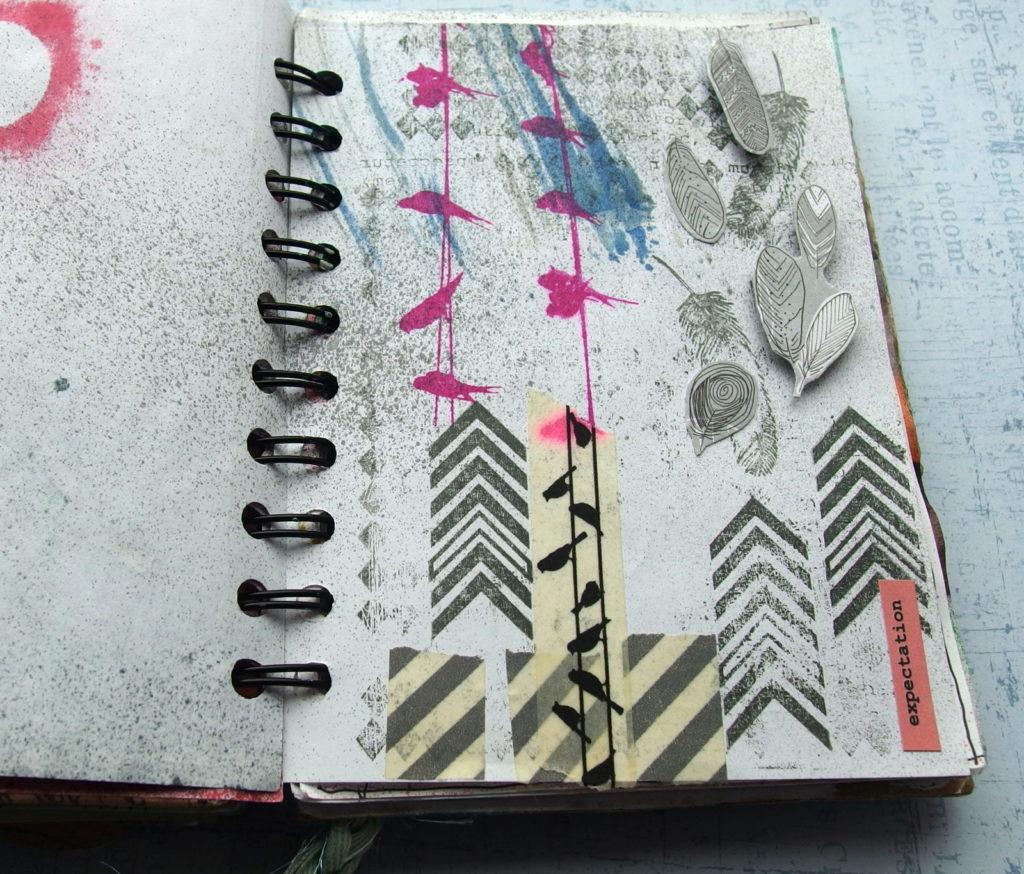 Junk journal w funkcji art journala.