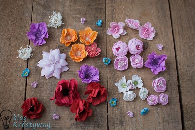 kwiaty handmade - foamiran