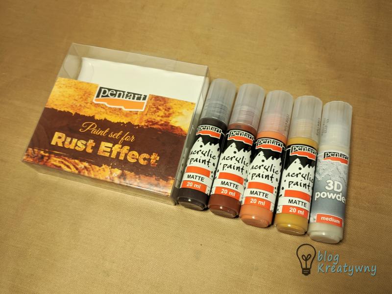 efekt rdzy, Efekt Rdzy – zestaw farb Pentart