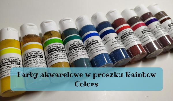 Farby akwarelowe w proszku, Farby akwarelowe w proszku Rainbow Colors
