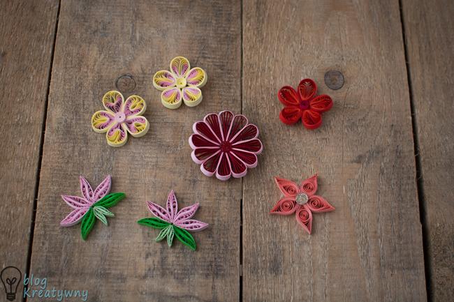 quillingowe kwiaty