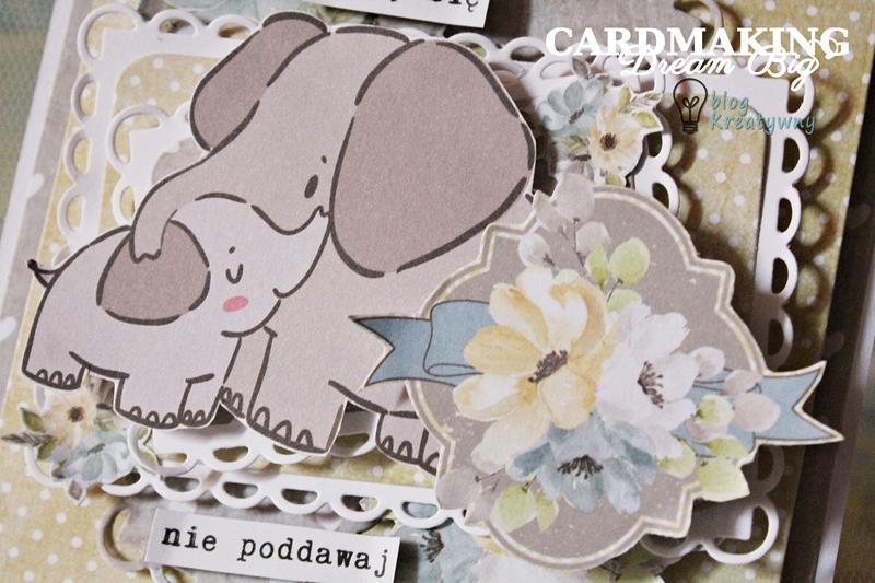 kartka ze słonikami