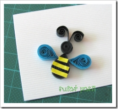 , Tag z pszczółką – quilling